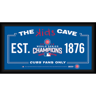 Chicago Cubs 2016 World Series Champions Framed 4x8 Kids Cave Sign