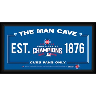 Chicago Cubs 2016 World Series Champions Framed 6x12 Man Cave Sign