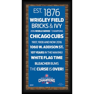 Chicago Cubs 2016 World Series Champions Framed 6x12 Subway Sign