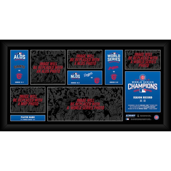 Chicago Cubs 2016 World Series Road to the Championship Champions Framed 10x20