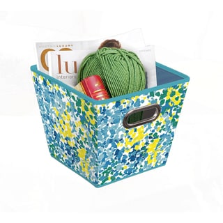 Blue/ Green Collapsible Grommet Bins (Set of 3)