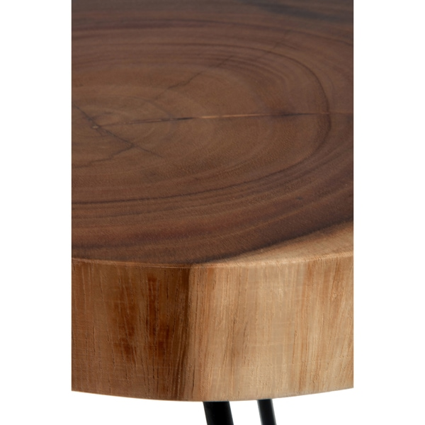 East At Mainu0027s Laredo Brown Teakwood Round Accent Table   Free Shipping  Today   Overstock.com   19966268