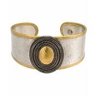 Gurhan Sterling Silver Gold Cavalier Cuff Bracelet