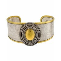 Gurhan Cavalier Sterling Silver and 24k Yellow Gold Cuff Bracelet