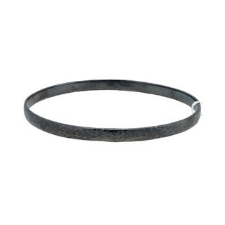Gurhan Blackened Sterling Silver Midnight Bangle Bracelet