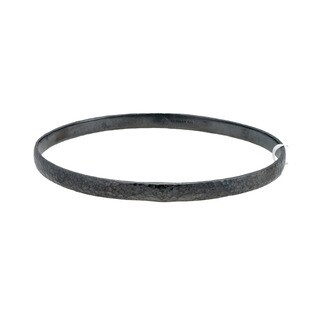 Gurhan Blackened Sterling Silver Midnight Bangle Bracelet