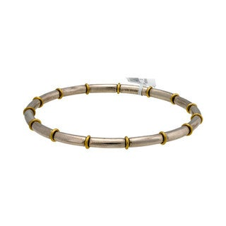 Gurhan Midnight Two-tone Sterling Silver Bangle Bracelet
