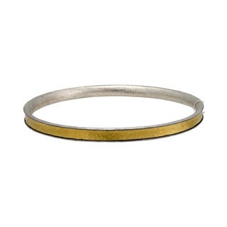 Gurhan Lancelot Sterling Silver Layered with 24k Yellow Gold Bangle Bracelet