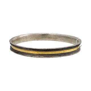 Gurhan Lancelot Sterling Silver Layered with 24k Yellow Gold Bangle Bracelet
