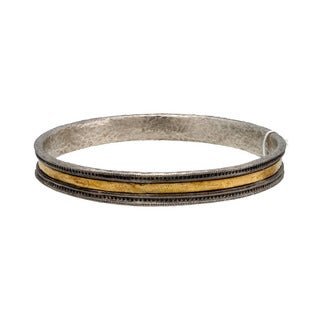 Gurhan Lancelot Sterling Silver and 24k Gold Bangle Bracelet