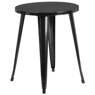 24 inch Round Metal Table