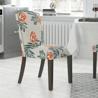 Skyline Furniture Multicolored Cotton/Linen/Wood Dining Chair