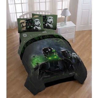 Star Wars Rogue 1 Imperial Trooper Twin 5-piece Bed in a Bag with Sheet Set