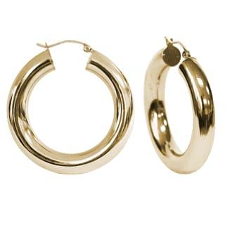 Marc Ivy Women's 14k Yellow Gold 35-millimeter High-polish Hoop Earrings