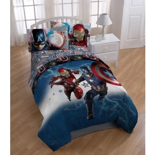 Marvel Captain America Civil War Twin 5-piece Bed in a Bag with Sheet Set