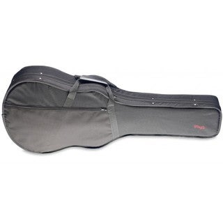 Stagg HGB2-A Black Nylon and Polystyrene Basic Soft Case with Wood Reinforcements for Auditorium Acoustic Guitar