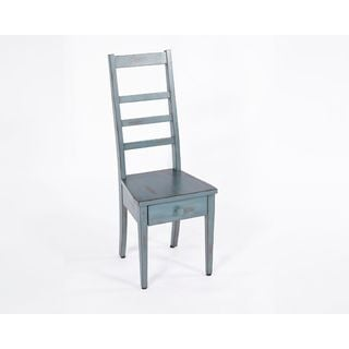 Progressive Levi Blue MDF Chair Table with Drawer