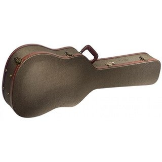 Stagg GCX-W BZ Deluxe Vintage Style Bronze Tweed Hard Case for Western/Dreadnought Acoustic Guitar