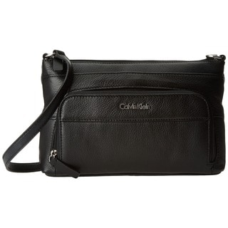 Calvin Klein Pebble Black Leather Crossbody