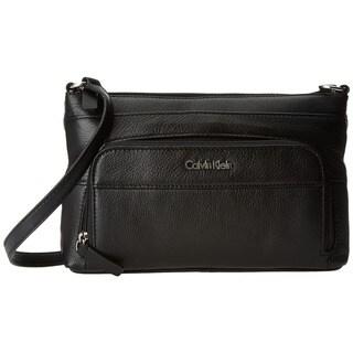 Calvin Klein Pebble Black Leather Crossbody