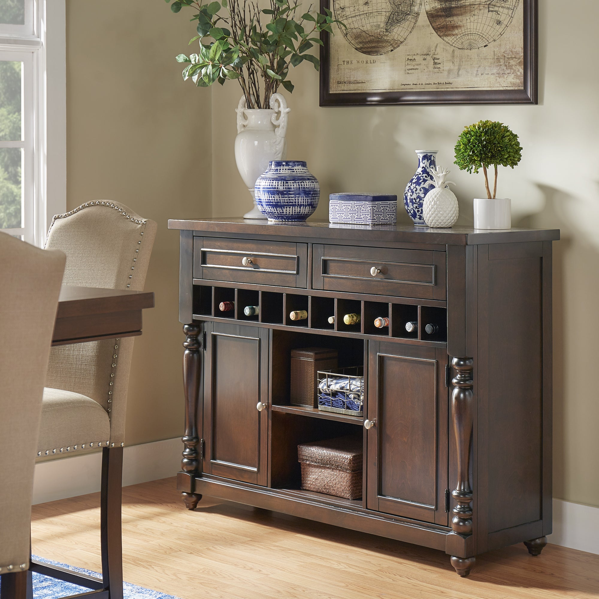 Parisian Wine Rack Buffet Server by iNSPIRE Q Classic (Wi...