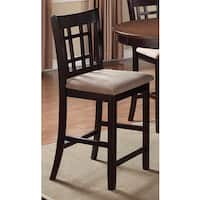 Copper Grove Crychan Brown Wood and Off-white Fabric Counter-height Stool