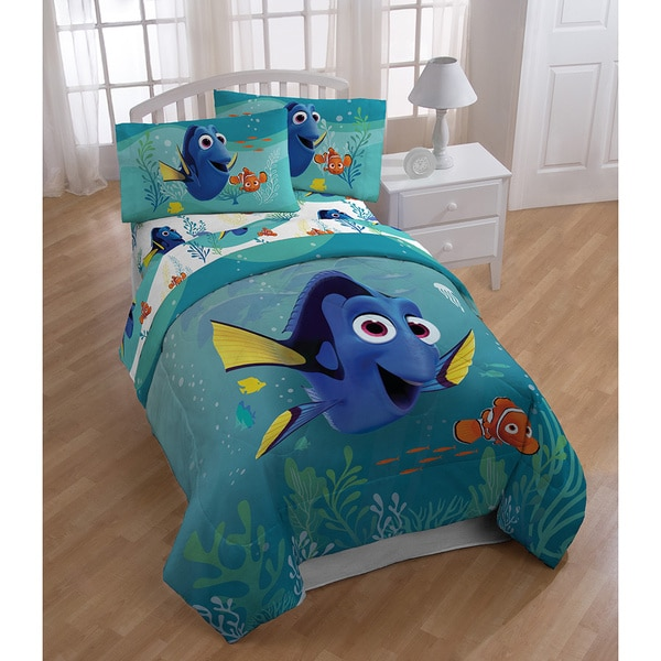 Disney Finding Dory Stingray Friends Twin-size 5-piece Bed in a Bag Set