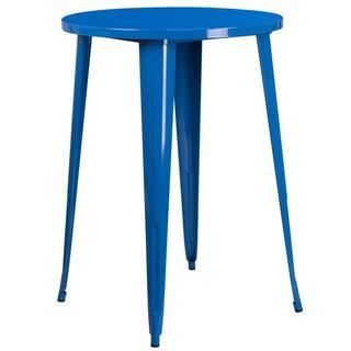 30-inch Round Metal Indoor-Outdoor Bar Height Table