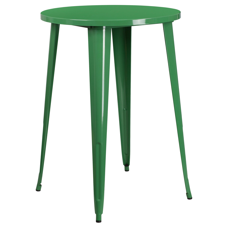 FLASH Furniture 30-inch Round Metal Indoor-Outdoor Bar He...