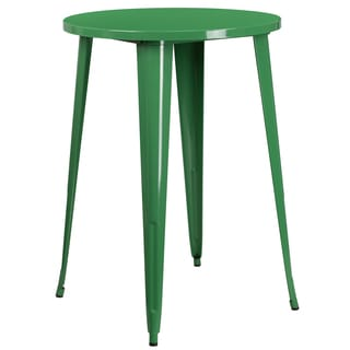 30-inch Round Metal Indoor-Outdoor Bar Height Table