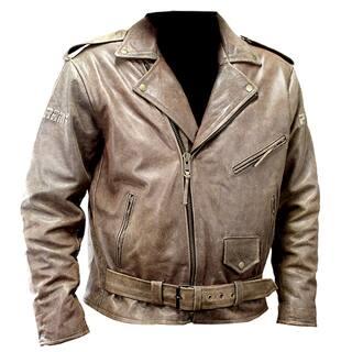 Defencer Perrini New Men's Brown Genuine Buffalo Leather Motorbike Biker Retro Style Jacket https://ak1.ostkcdn.com/images/products/13253035/P19966608.jpg?impolicy=medium