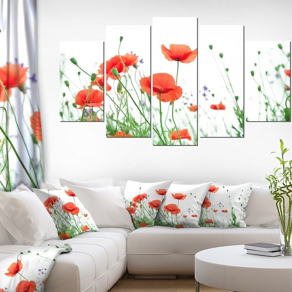 Shop poppy flowers on white background modern floral artwork on poppy flowers on white backgroundx27 modern floral artwork mightylinksfo