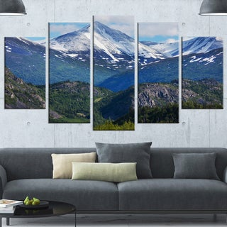 Designart 'Frosty Mountains on Alaska' Landscape Art Print Canvas