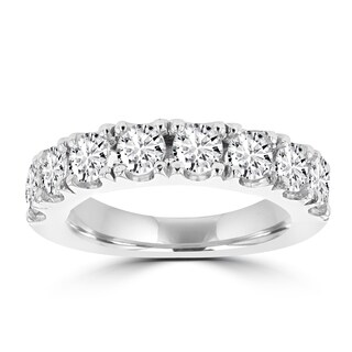 La Vita Vital 14K White Gold 2.05ct TDW Round Diamond Wedding Band