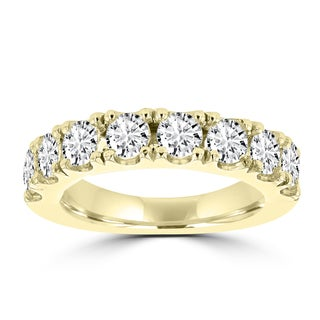 La Vita Vital 14K Yellow Gold Wedding Band with Round Brilliant Cut Diamonds 2ct TDW (VS-SI1, H-I)