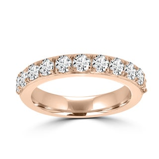 La Vita Vital 14K Rose Gold 3/4ct TDW Round Diamond Wedding Band