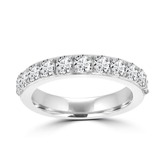 La Vita Vital 14K White Gold and Diamond 3/4ct TDW Wedding Band (VS-SI1, G-H)