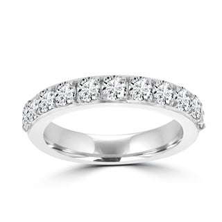 La Vita Vital 14K White Gold and Diamond 3/4ct TDW Wedding Band - White G-H