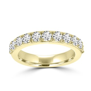 La Vita Vital 14K Yellow Gold 3/4ct TDW Round Diamond Wedding Band