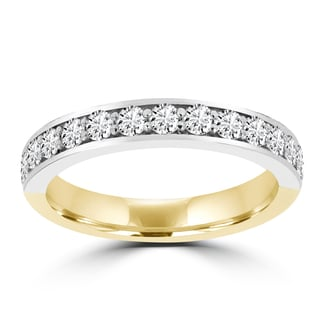 La Vita Vital 14K Yellow and White Gold Diamond 5/8ct TDW Wedding Band (VS-SI1, G-H)