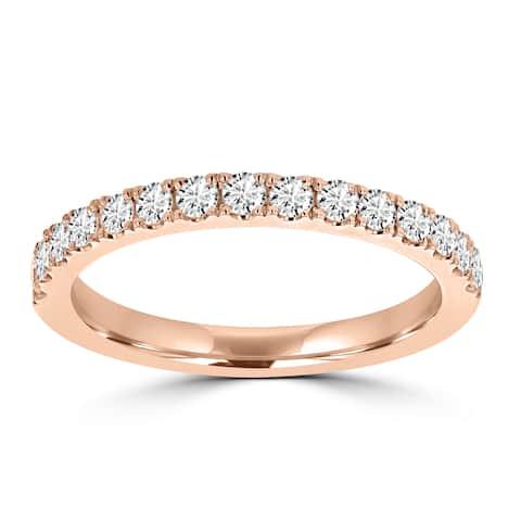 La Vita Vital 14K Rose Gold Diamond 0.40ct TDW Wedding Band - White G-H