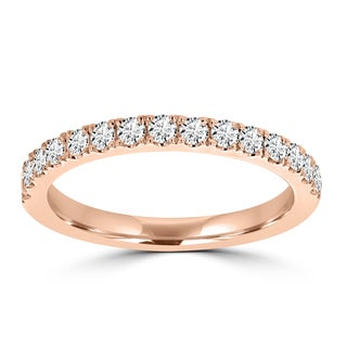 La Vita Vital 14K Rose Gold Diamond 0.40ct TDW Wedding Band (VS-SI1, G-H)