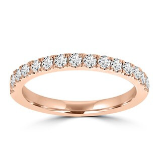 La Vita Vital 14K Rose Gold Diamond 0.40ct TDW Wedding Band - White G-H