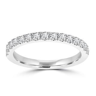 La Vita Vital 14k Gold White Diamond 2/5ct TDW Wedding Band (VS-SI1, G-H)