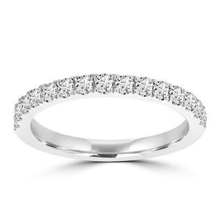 La Vita Vital 14k Gold White Diamond 2/5ct TDW Wedding Band - White G-H|https://ak1.ostkcdn.com/images/products/13253152/P19966622.jpg?impolicy=medium