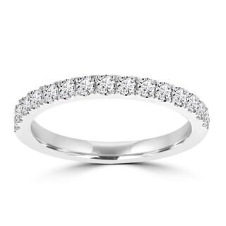 La Vita Vital 14k Gold White Diamond 2/5ct TDW Wedding Band - White G-H