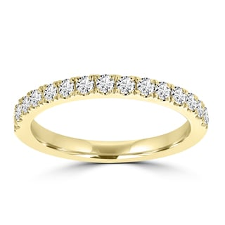 La Vita Vital 14k Yellow Gold Diamond 2/5ct TDW Wedding Band (VS-SI1, G-H)