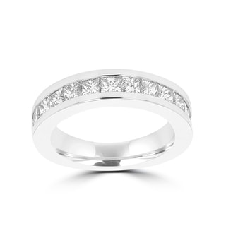 La Vita Vital 14k White Gold Diamond 1 7/8ct TDW Wedding Band (VS-SI1, G-H)