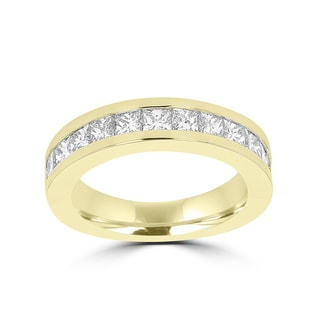 La Vita Vital 14K Yellow Gold 1.85ct TDW Princess Cut Diamond Wedding Band (VS-SI1, G-H)