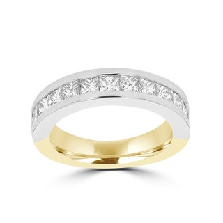 La Vita Vital 14k White/Yellow Gold Diamond 1 7/8ct TDW Wedding Band (VS-SI1, G-H)